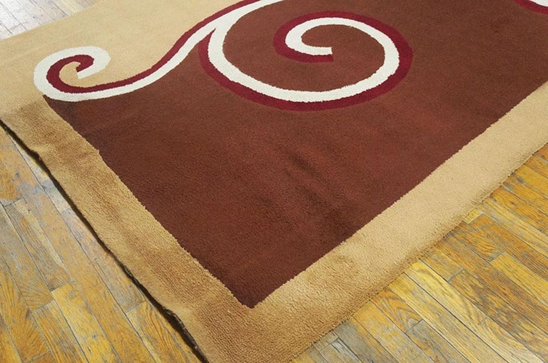 Hand-Knotted English Art Deco Carpet by Marion Dorn For Sale