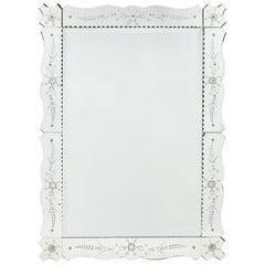 Antique Art Deco French Mirror