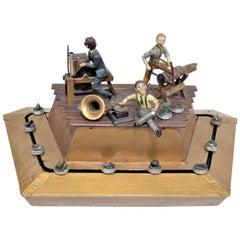 Antique Art Deco Mechanical Jewelry Store Display Automaton