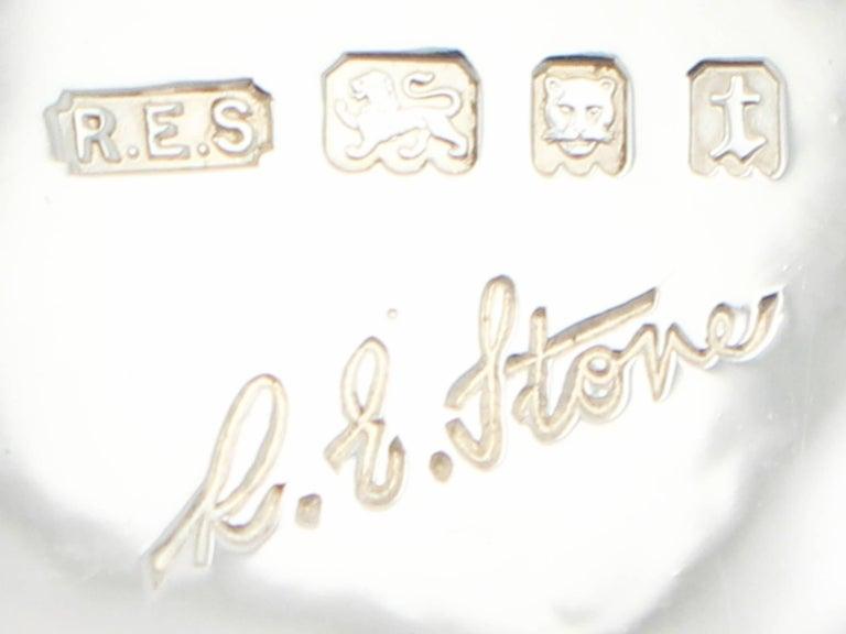 Antique Art Deco Pair of Sterling Silver Bon Bon Dishes For Sale 2