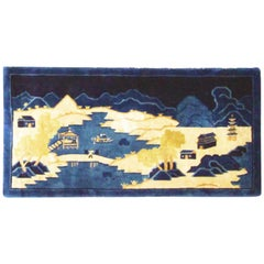 Antique Art Deco/Peking Rug, Scene Design