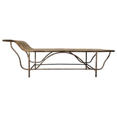 Antique Art Deco Period Steel Day Bed for Convalescing Factory Workers