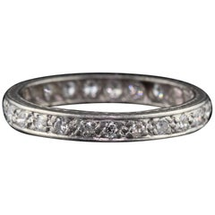 Antique Art Deco Platinum and Diamond Eternity Band