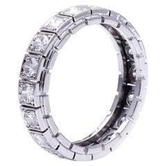 Antique, Art Deco, Platinum, Diamond Eternity Ring