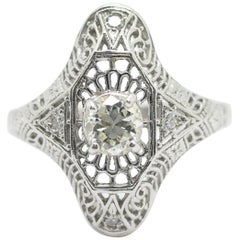 Antique Art Deco Platinum Diamond Ring