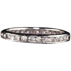 Antique Art Deco Platinum Diamond Single Cut Eternity Band