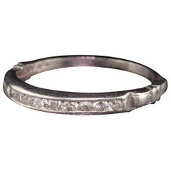 Antique Art Deco Platinum Diamond Wedding Band
