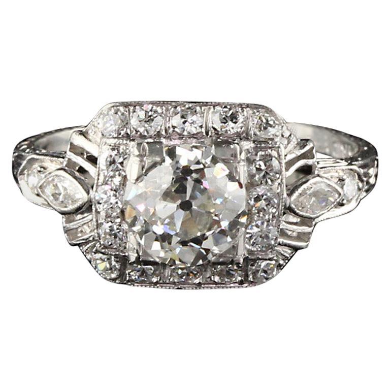Antique Art Deco Platinum Engagement Ring