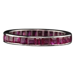 Antique Art Deco Platinum Ruby Eternity Band