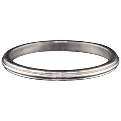 Antique Art Deco Platinum Wedding Band