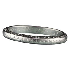 Circa 1920 - Antique Art Deco Platinum Wedding Band