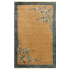 Antique Art Deco Rug, Bamboo Design