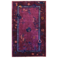 Antique Art Deco Rug, Purple