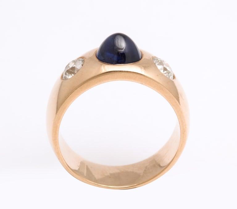Women's or Men's Antique Art Deco Sapphire and Diamond Ring