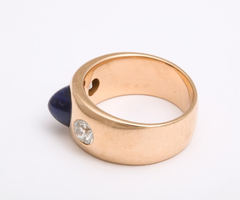Antique Art Deco Sapphire and Diamond Ring 2