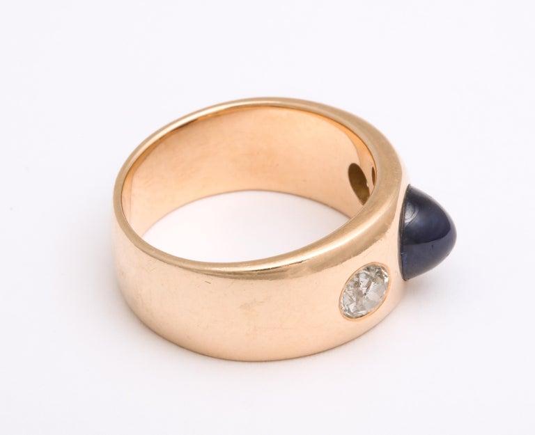 Antique Art Deco Sapphire and Diamond Ring 3