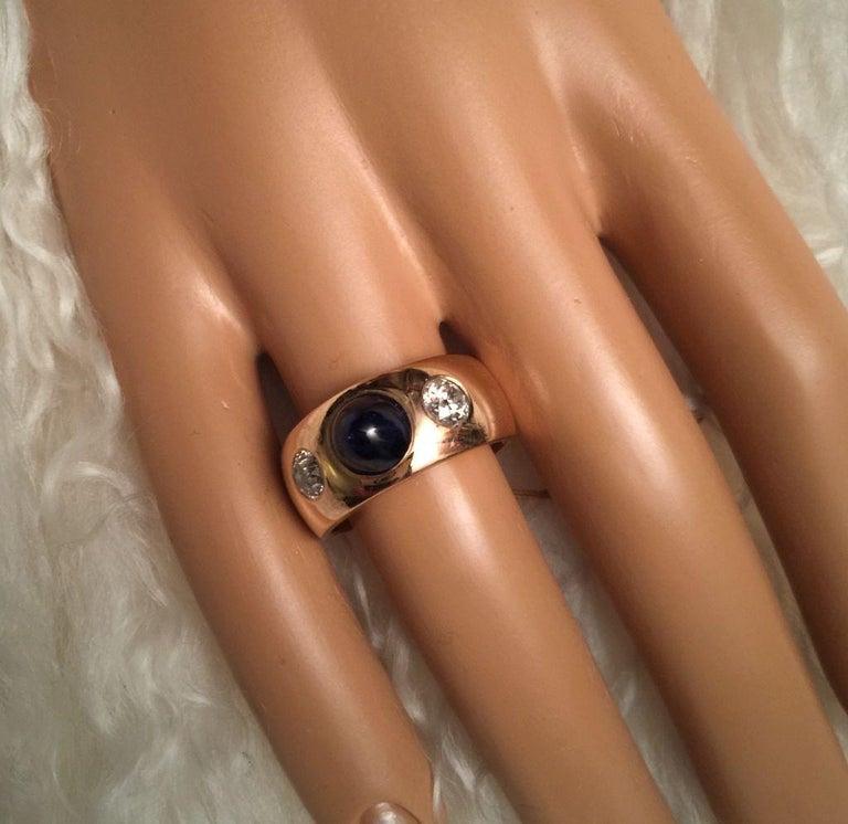 Antique Art Deco Sapphire and Diamond Ring 4