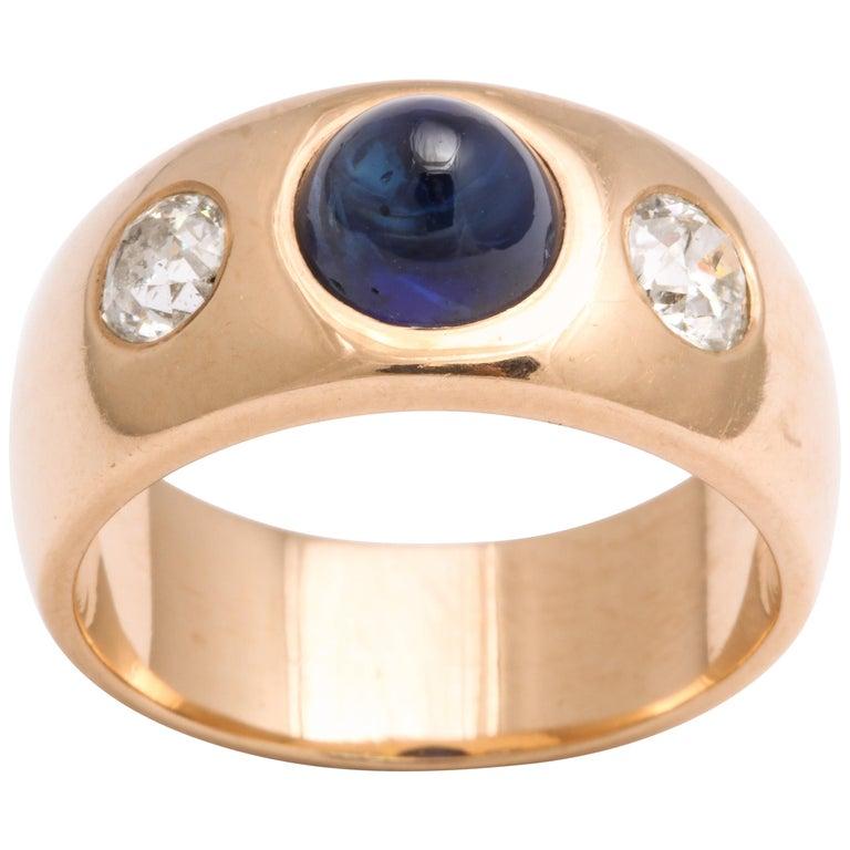 Antique Art Deco Sapphire and Diamond Ring
