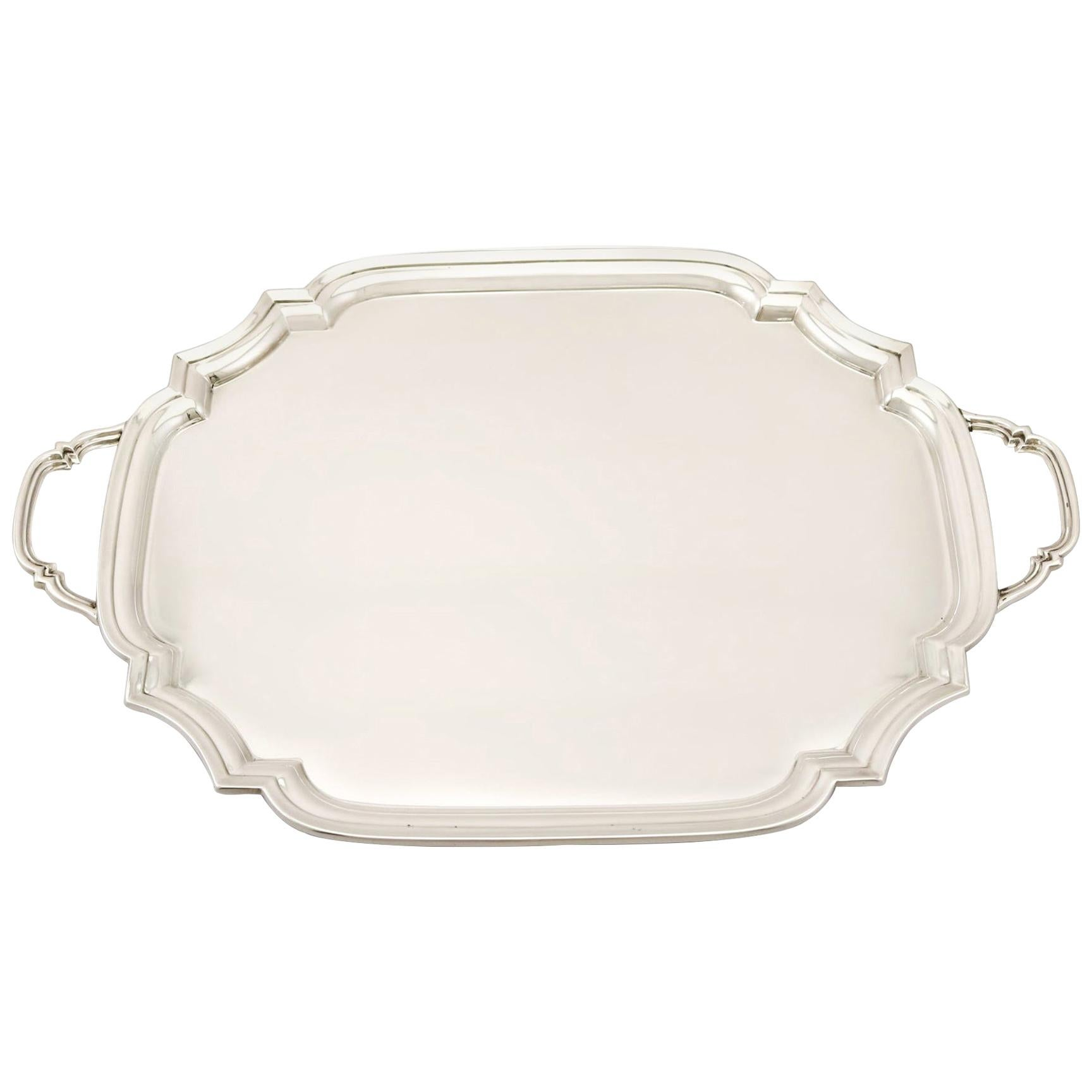 Antique Art Deco Sterling Silver Drinks Tray