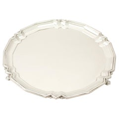 Antique Art Deco Sterling Silver Salver