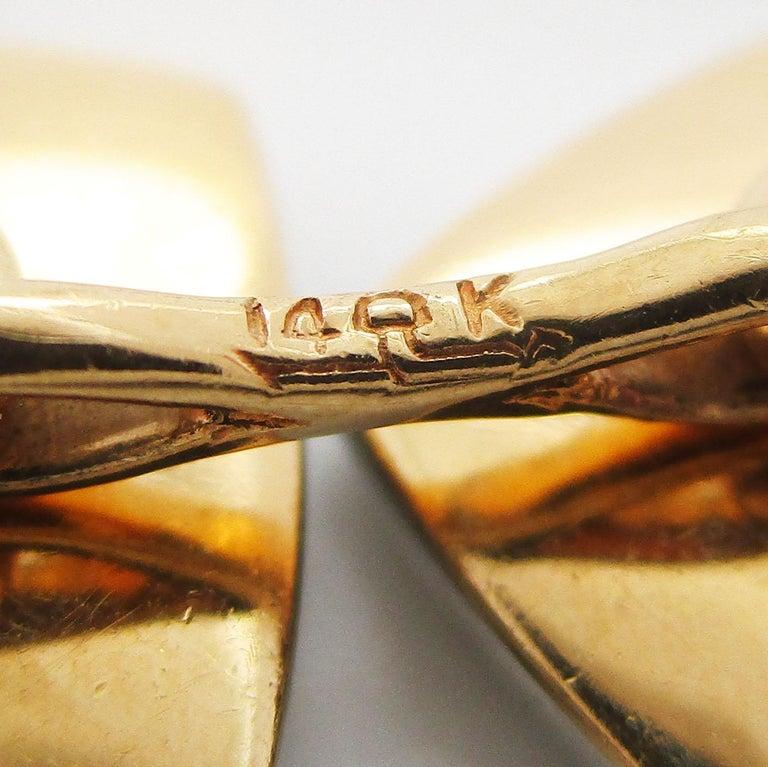 Antique Art Deco Two-Tone 14 Karat Gold Black Onyx Cufflinks For Sale 1