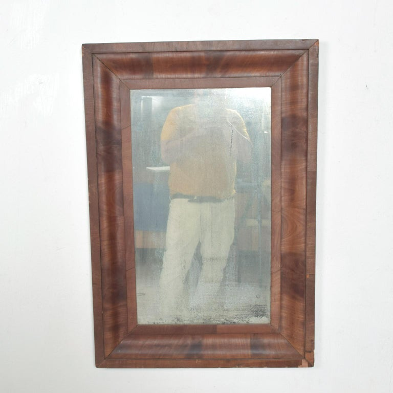Antique Art Deco Wall Mirror Framed In Rosewood Vintage Patina For Sale At 1stdibs