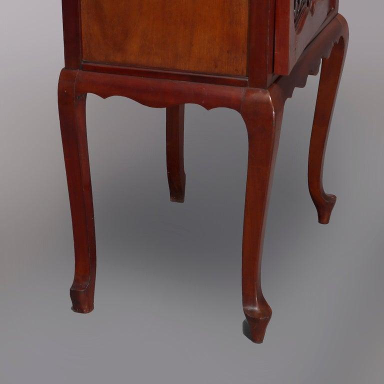 Antique Art Nouveau Carved Mahogany Reticulated Étagère, circa 1900 For Sale 5