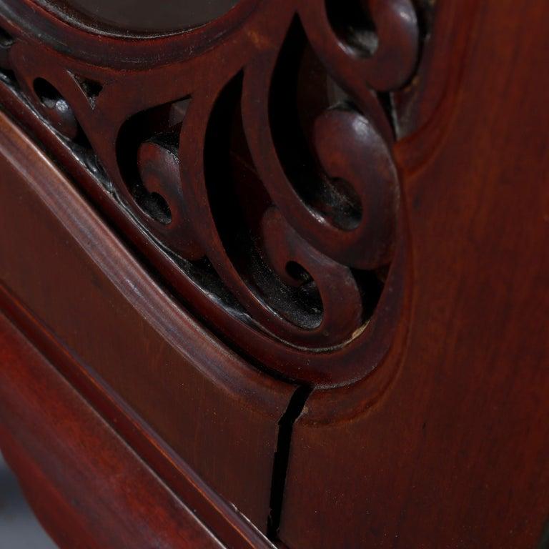 Antique Art Nouveau Carved Mahogany Reticulated Étagère, circa 1900 For Sale 13