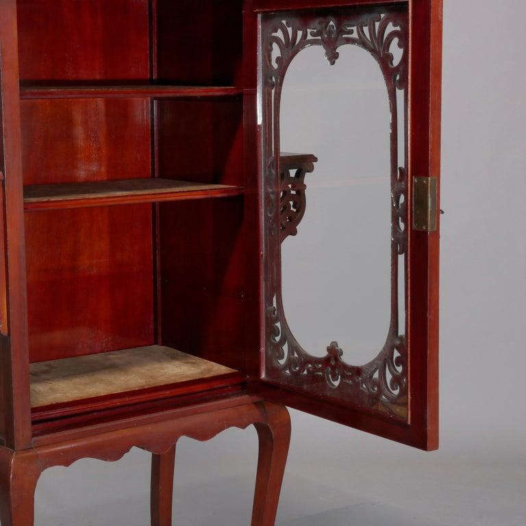 Antique Art Nouveau Carved Mahogany Reticulated Étagère, circa 1900 For Sale 1