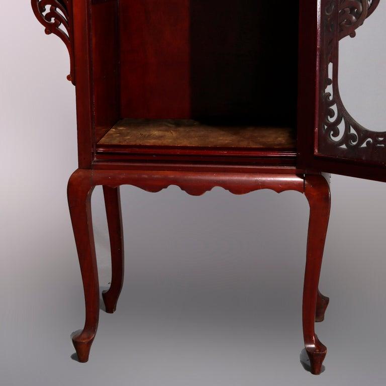 Antique Art Nouveau Carved Mahogany Reticulated Étagère, circa 1900 For Sale 3