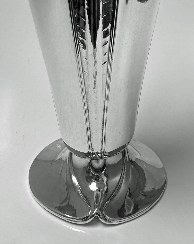 Antique Art Nouveau Christofle Silver Plate Vase, France, C.1900 For Sale 1