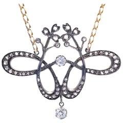 Antique Art Nouveau Diamond Pendant
