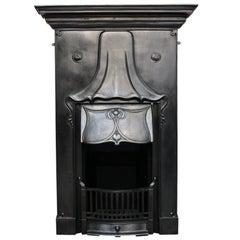 Antique Art Nouveau Edwardian Cast Iron Combination Grate