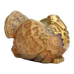 Antique Art Nouveau Imperial Amphora Pottery Turkey-Form Jardinière or Vase