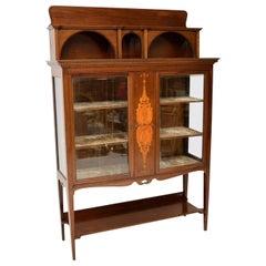 Antique Art Nouveau Inlaid Mahogany Cabinet Liberty of London
