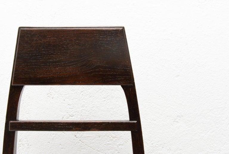 Antique Art Nouveau Oak Dining Chairs, Set of 4 For Sale 1