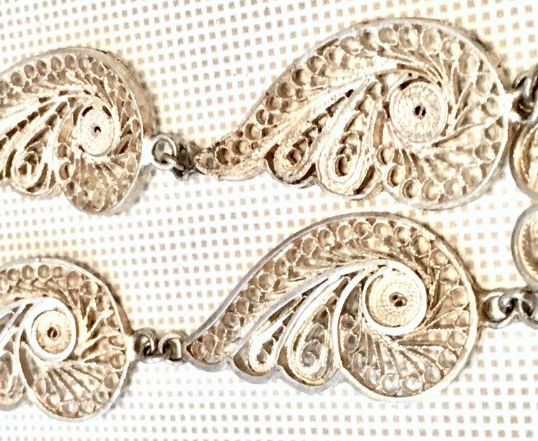 Antique Art Nouveau Sterling Silver & Moonstone Pendant Necklace 3