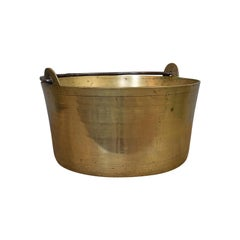 Antique Artisan Jam Pan, French, Solid Brass, Kitchen Pot, Victorian, circa 1900