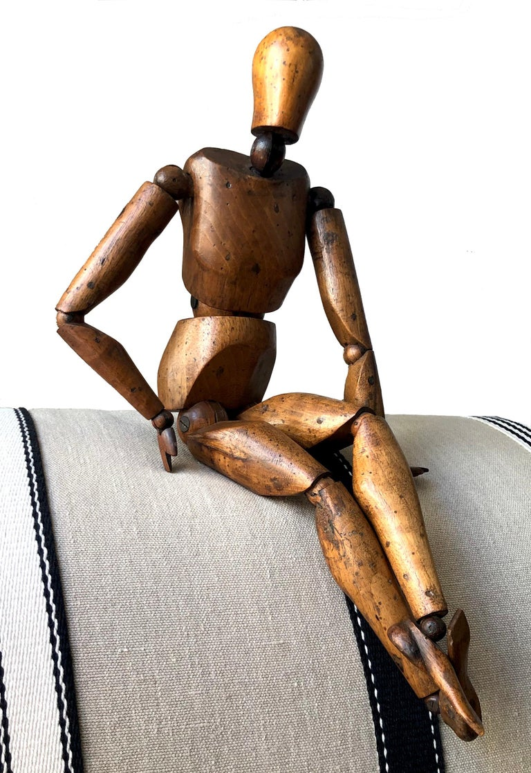 This articulated mannequin is from an artist's studio in France, probably Paris, and made out of walnut in circa 1880-1890.