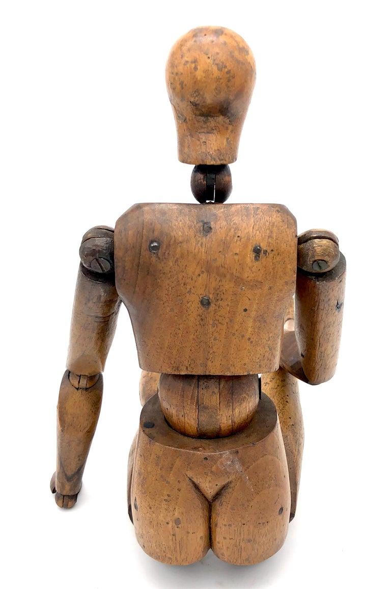 Antique Artist Mannequin Wood Figure Sculpture, France In Good Condition For Sale In Munich, DE