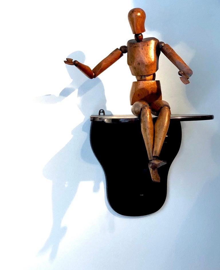 Walnut Antique Artist Mannequin Wood Figure Sculpture, France For Sale
