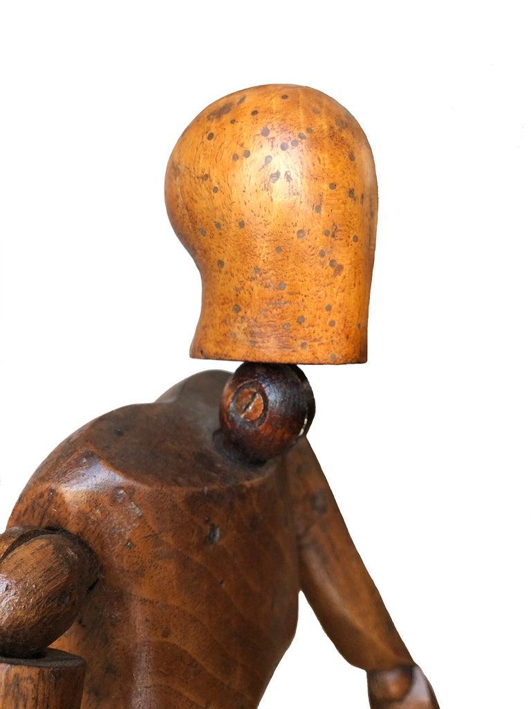 Antique Artist Mannequin Wood Figure Sculpture, France For Sale 1