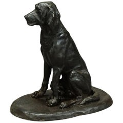 Antique Artistic Bronze Cast of a Retriever, Germany, circa 1900