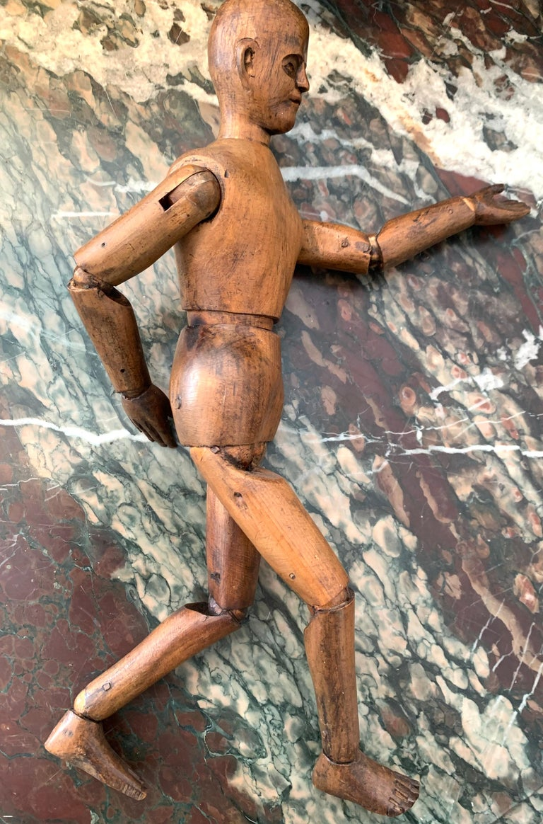 French Antique Artist's Mannequin Wood, France For Sale