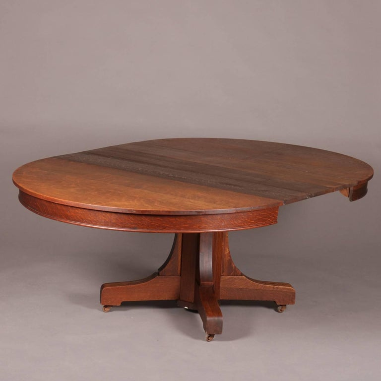 Arts And Crafts Mission Oak Hastings Pedestal Dining Table