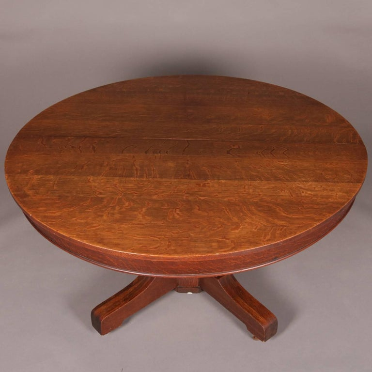 Hastings Coffee Table: Arts And Crafts Mission Oak Hastings Pedestal Dining Table
