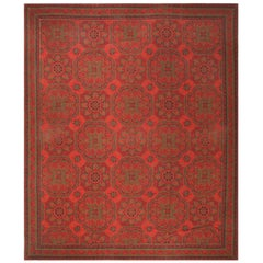 Antique Arts & Crafts English Wilton Carpet. Size: 12 ft 8 in x 15 ft