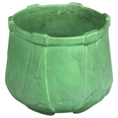 Antique Arts & Crafts Matte Green Art Pottery Tech Style Jardinière, circa 1910
