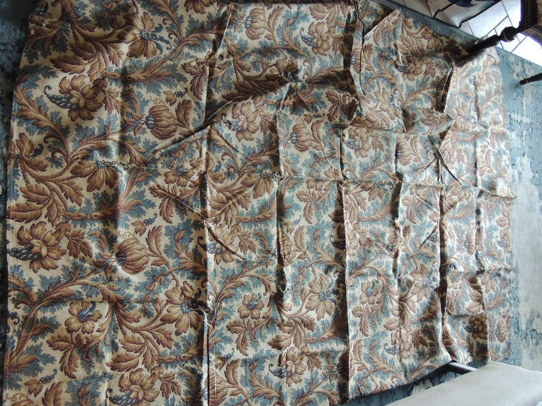 Arts and Crafts Antique Arts & Crafts Printed Floral Textile Panel For Sale