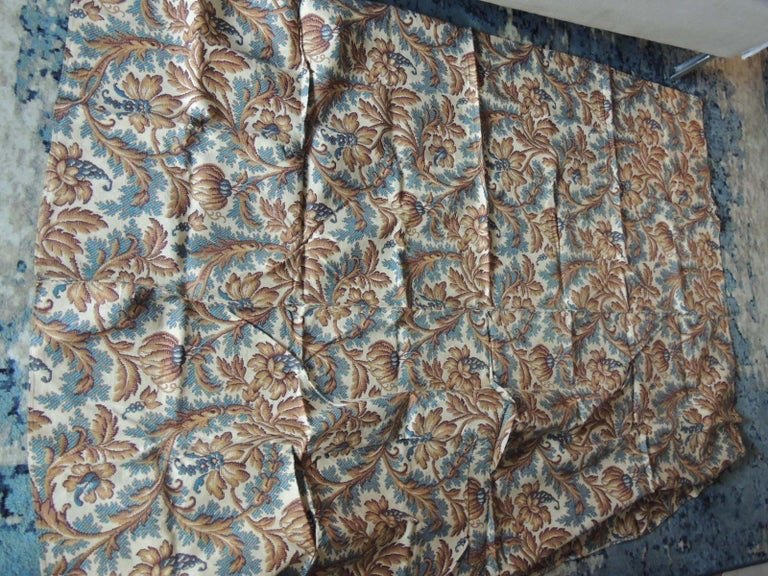 English Antique Arts & Crafts Printed Floral Textile Panel For Sale